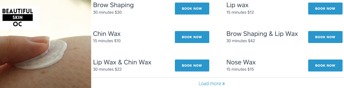 Make waxing and facials appointment at Beautiful Skin OC