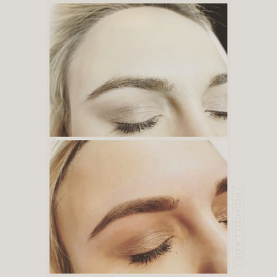 Before and after photo for eyebrow wax at Beautiful Skin OC